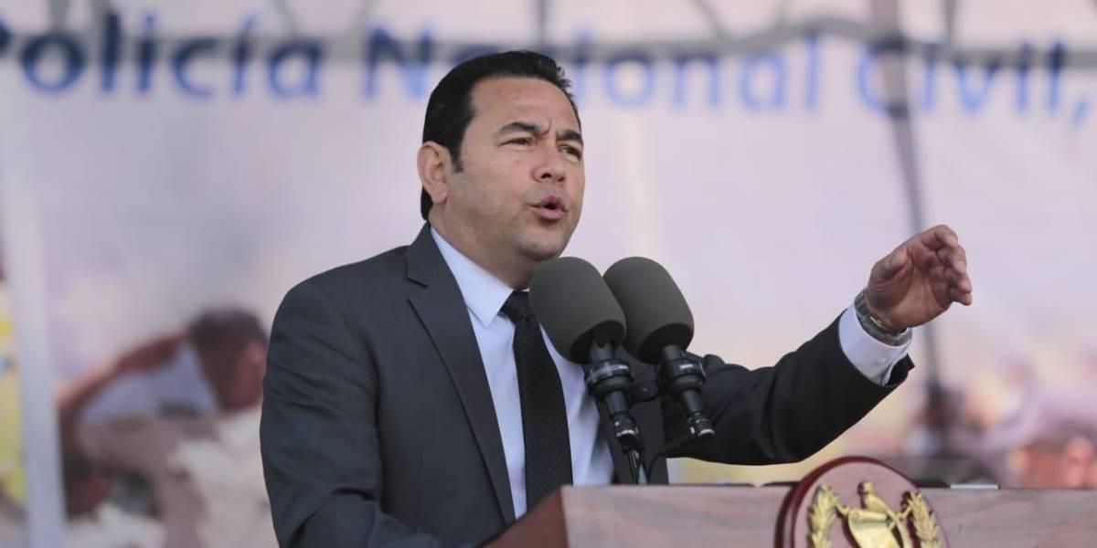 """Presidente: """"Guatemala cada día es un país más seguro"""""""