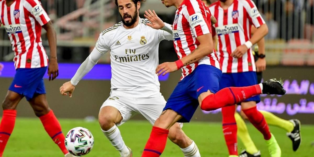 VIDEO. José María Giménez reacciona furioso por sustitución en la final de Supercopa