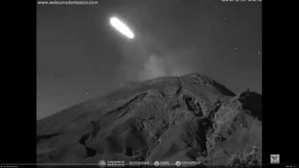 meteoro Popocatépetl