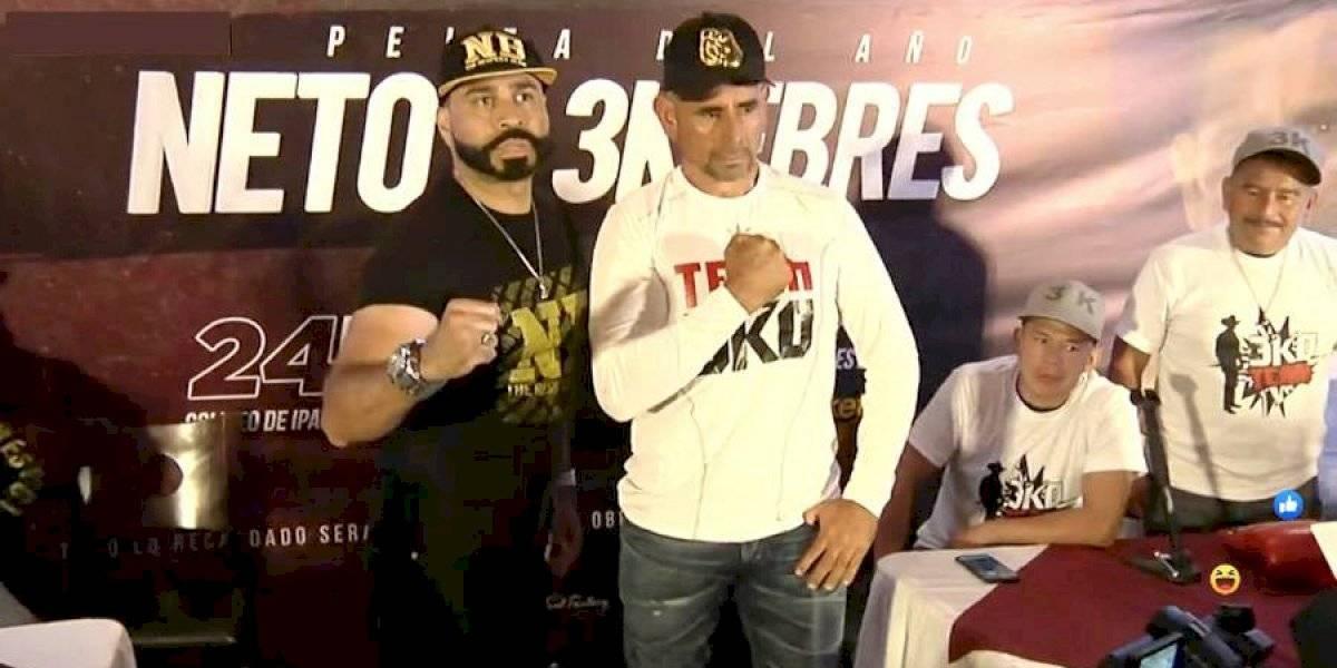 """VIDEO. Se oficializa pelea de Neto Bran y """"Tres Kiebres"""""""
