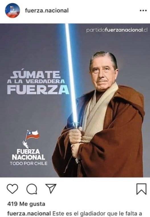 Partido político muestra a Pinochet como Jedi y Mark Hamill se asquea