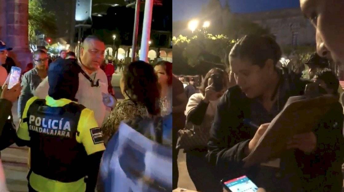 Empleados del Ayuntamiento desalojan a Flor Amargo en GDL