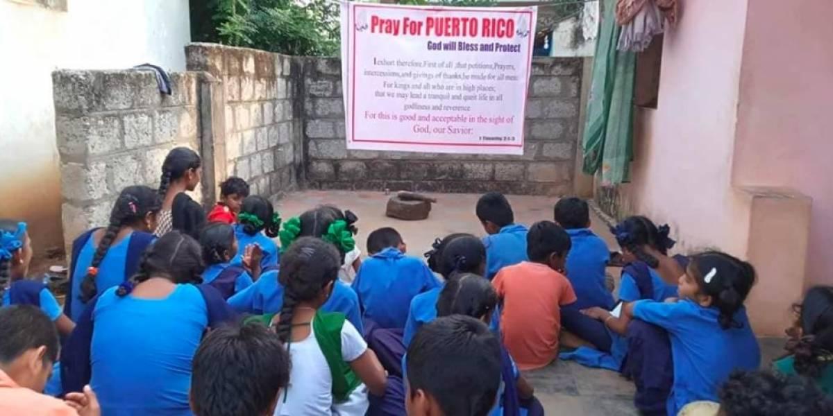 En India niños se reúnen para orar por Puerto Rico