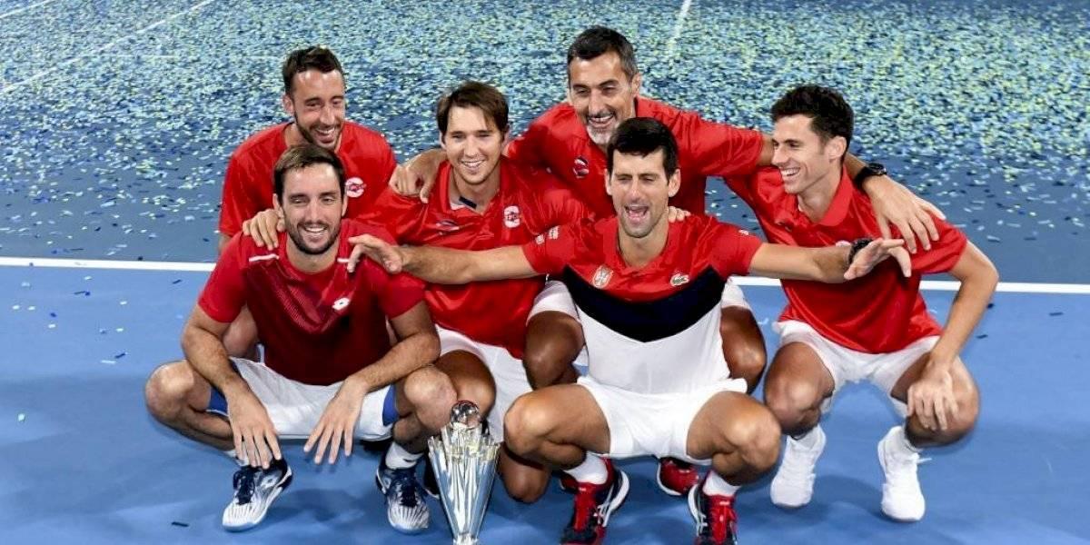 Serbia de Novak Djokovic derrota a España y gana la ATP Cup