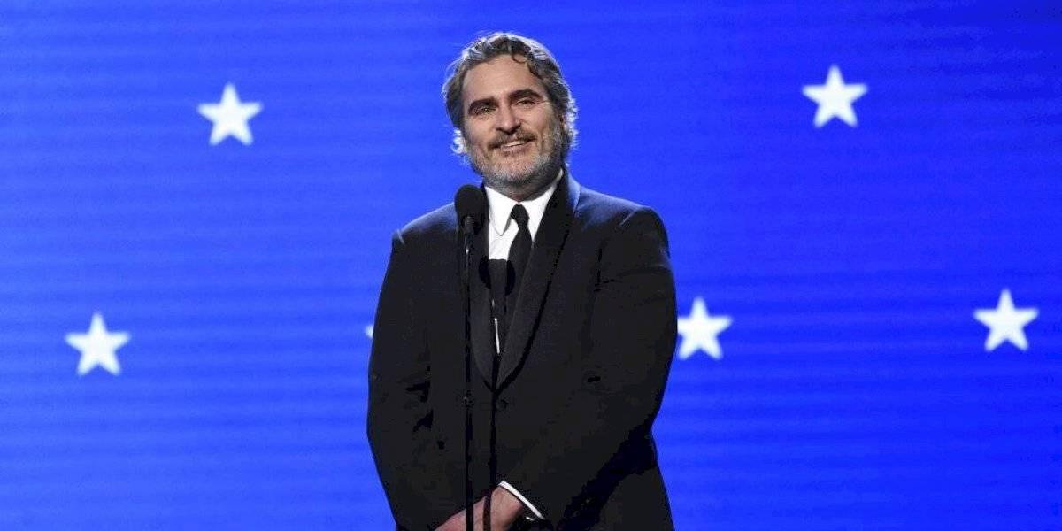 Ahora va por el Oscar: el aplaudido discurso de Joaquin Phoenix tras ganar el Critic's Choice por el Joker
