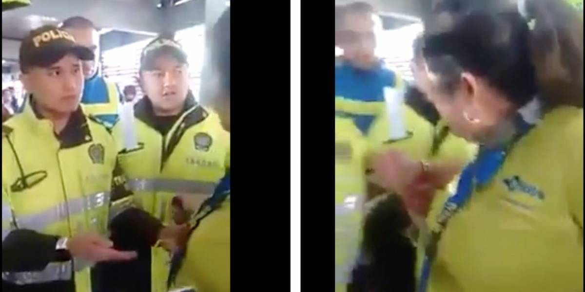Policía se pronuncia sobre uniformados que esposaron a funcionaria de TM que no los dejó colar