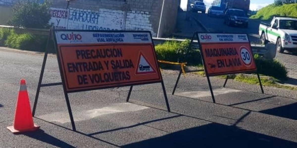 Plan de repavimentación Km a Km en Quito: Vías donde trabajarán del 13 al 19 de enero
