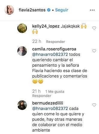 Comentarios Flavia Dos Santos