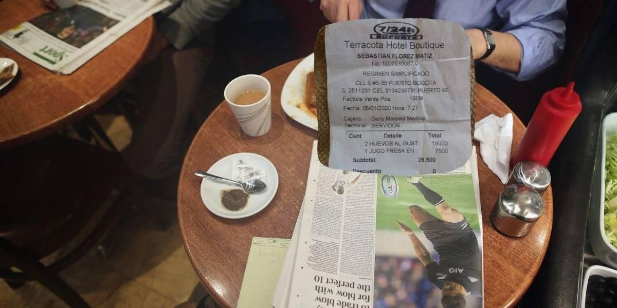 ¿El desayuno más caro? La absurda cuenta que pagó turista por dos huevos en hotel de Tolima