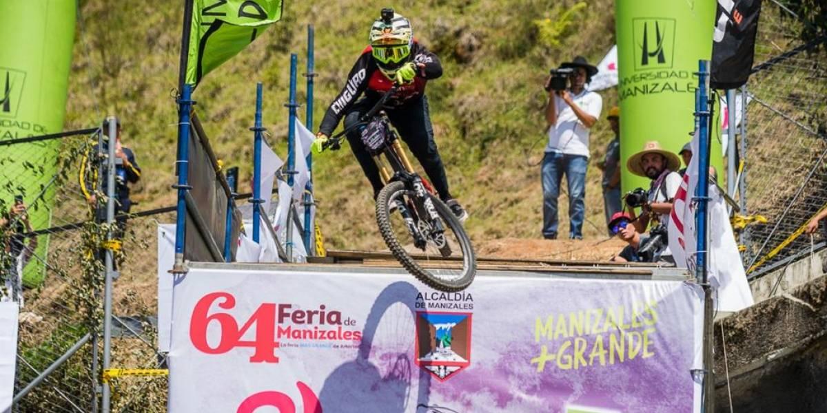 El checo Tomas Slavik se impuso en el downhill urbano de la Feria de Manizales