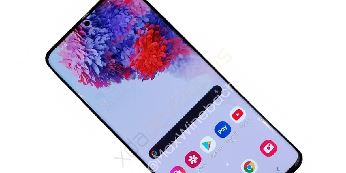 Así luce el Samsung Galaxy S20+ comparado con el Samsung Galaxy S10+