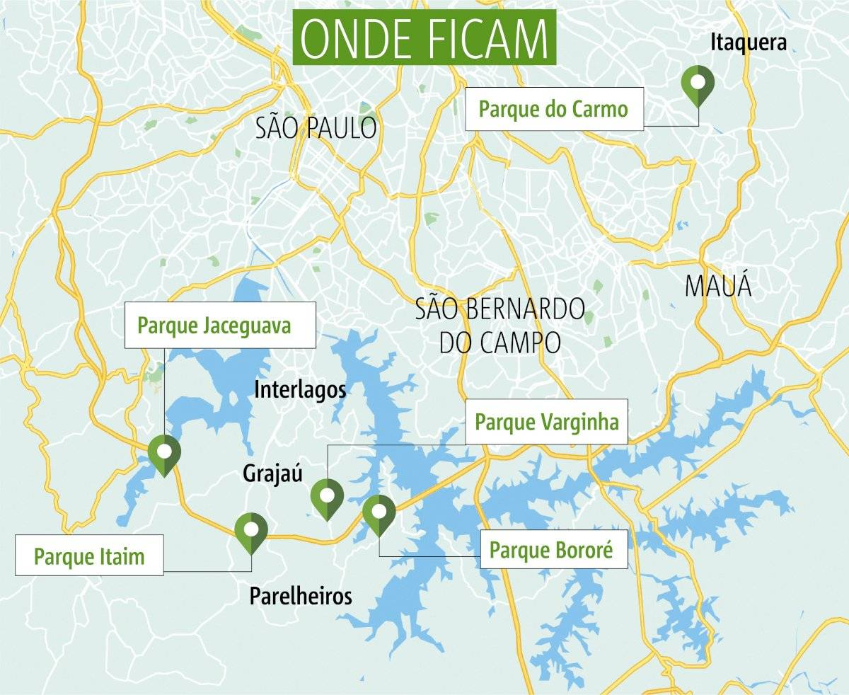 Parques naturais municipais - visitação aberta