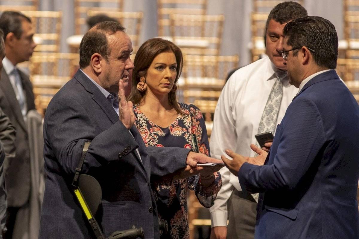 Alejandro Giammattei ensaya su ceremonia de investidura en Guatemala