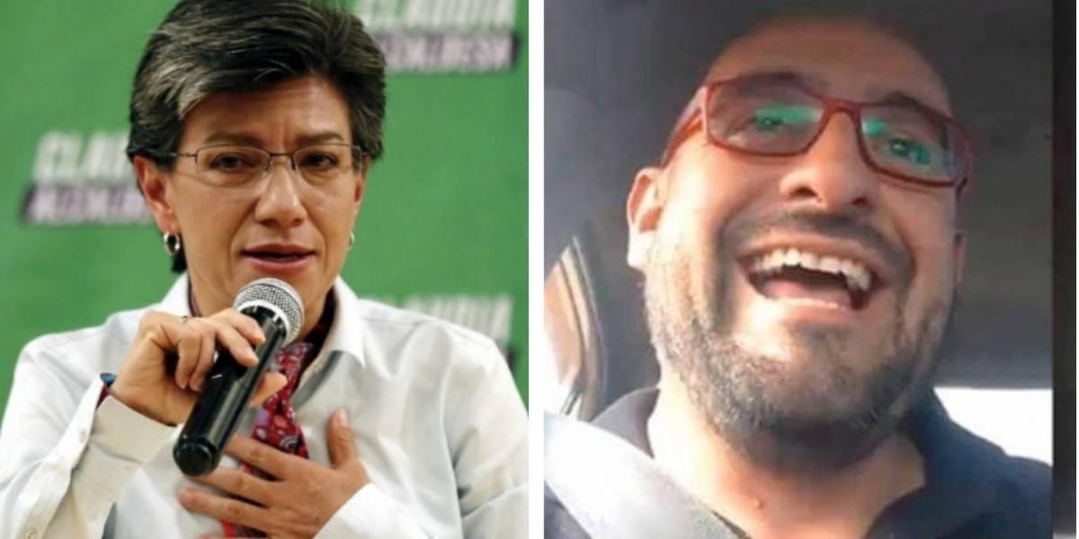 """""""Nadie que se exprese de esa manera merece llamarse líder"""": Claudia López sobre polémico video de taxista"""
