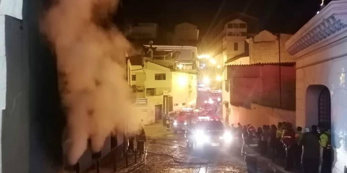 Controlado incendio en casa abandonada del Centro Histórico de Quito