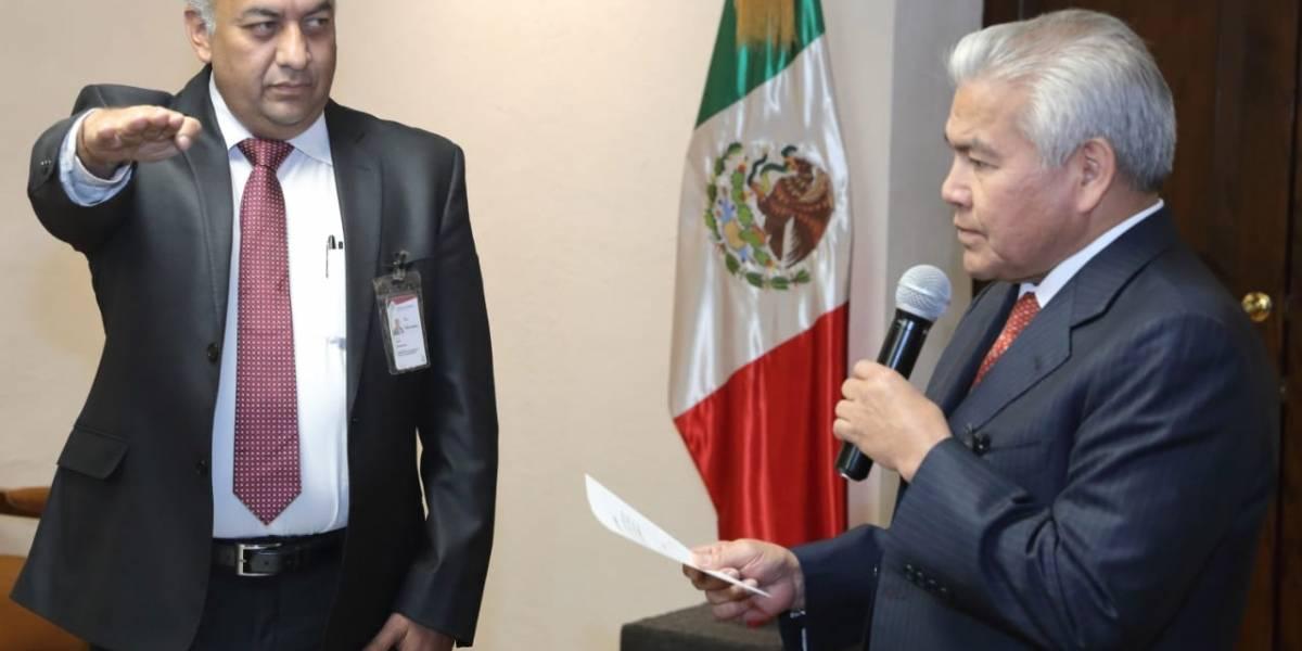 David Méndez toma protesta como secretario de Gobernación, en sustitución de Manzanilla