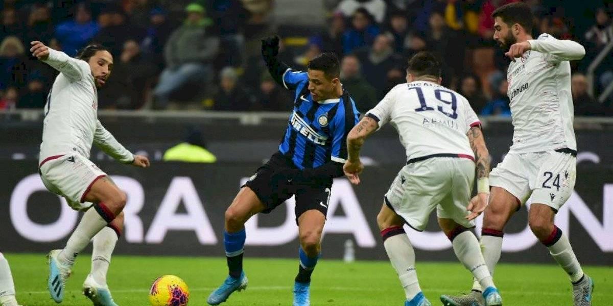 """Alexis Sánchez tuvo un activo """"re debut"""" con Inter de Milán después de 94 días sin fútbol"""