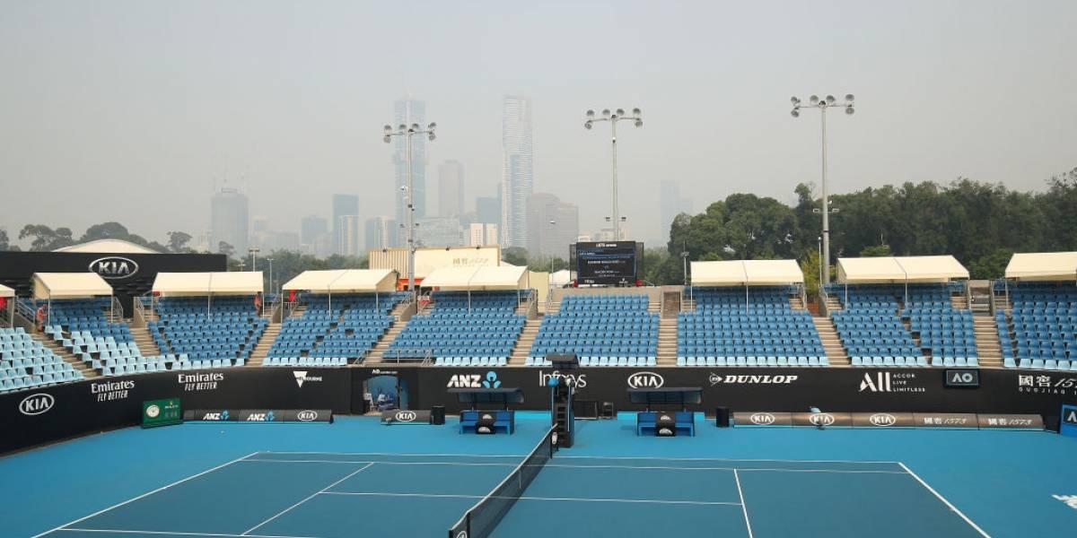 Fumaça de queimadas afeta tenistas no Aberto da Austrália