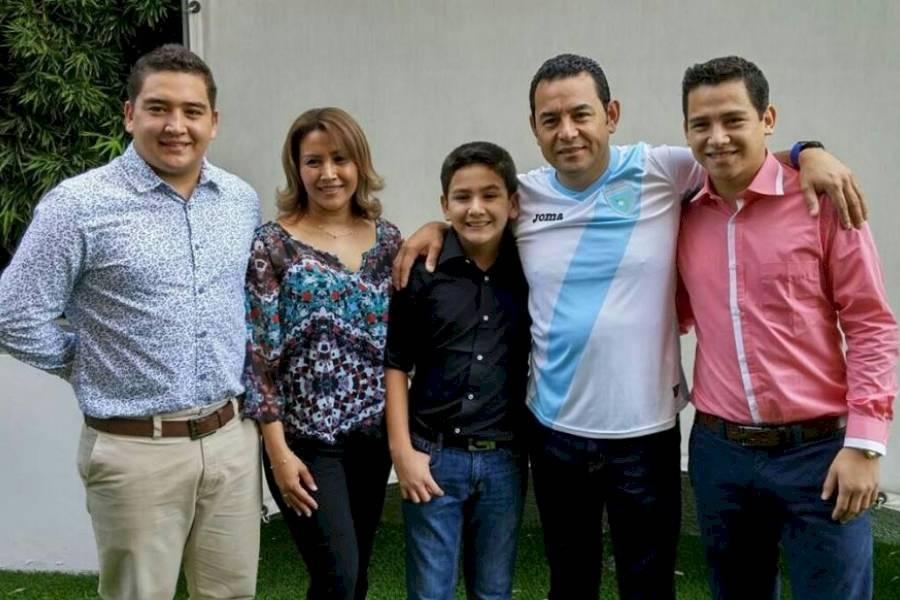 Familia de Jimmy Morales