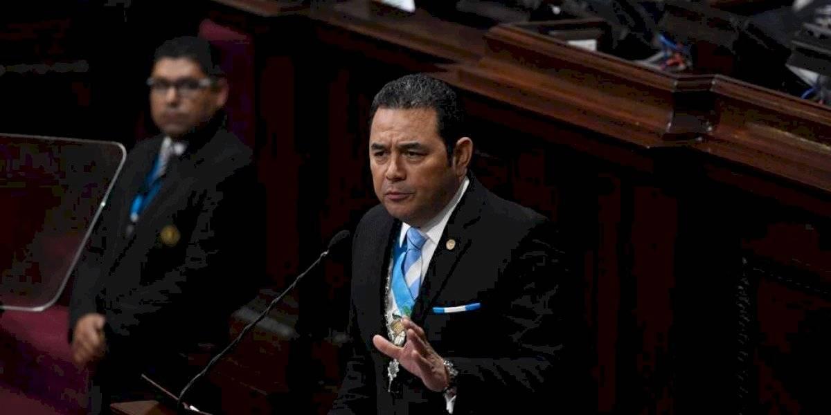 Jimmy Morales presenta último informe de gobierno ante pocos diputados