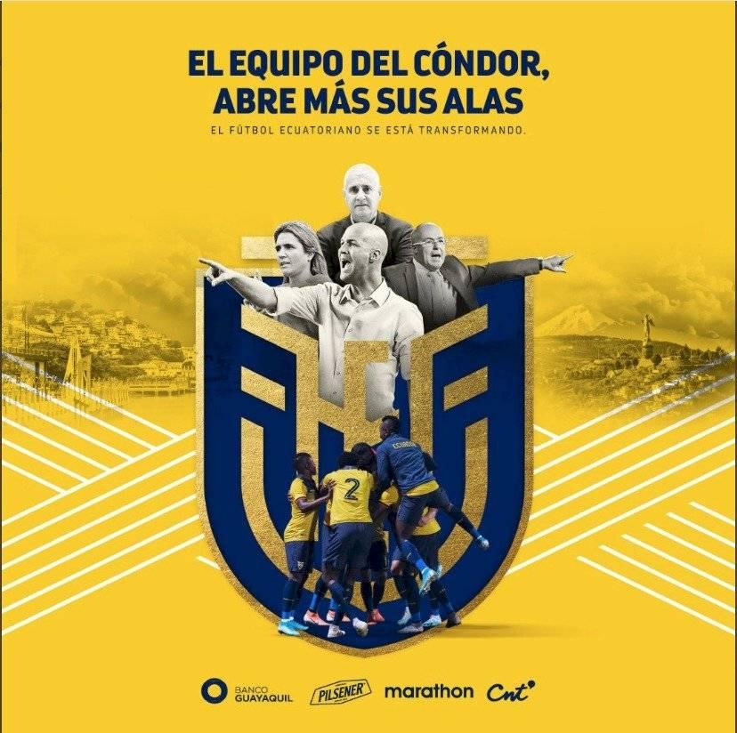 Emilia Lima (selección femenina de fútbol), Jorge Célico (entrenador sub 23), Antonio Cordón (director deportivo) y Jordi Cruyff (director técnico)