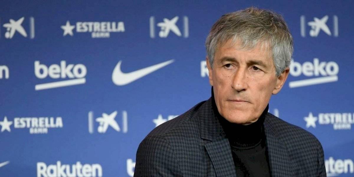 Quique Setién sugiere declarar como campeón al Barcelona si se cancela la liga