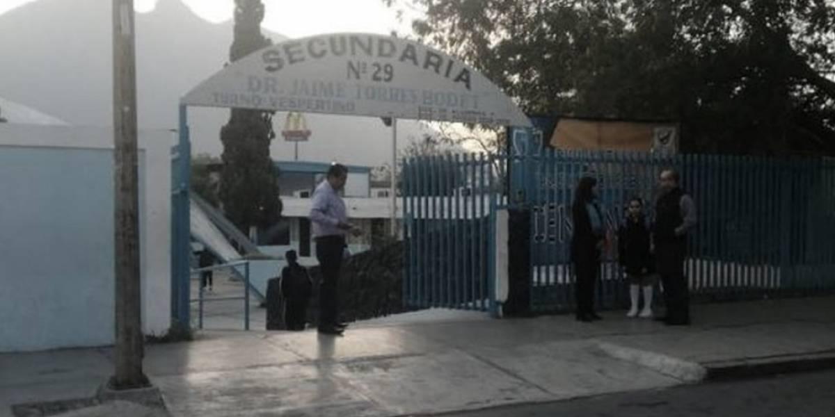 Alumno de secundaria bromea con desatar tiroteo en Monterrey
