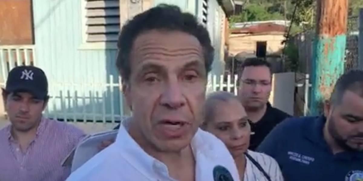 Gobernador de Nueva York truena contra el gobierno federal ante emergencia en la isla