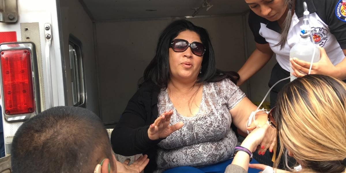 Exdiputada Patriota llega en ambulancia a tribunales tras ser capturada