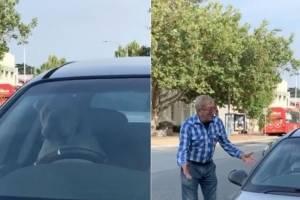 Cachorro fica preso em carro e buzina até o dono voltar para abrir a porta