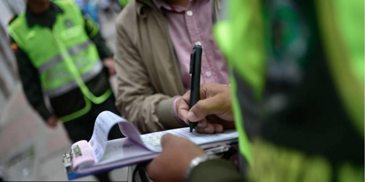 Policía de Tránsito impuso más de 5000 comparendos durante Semana Santa en Bogotá