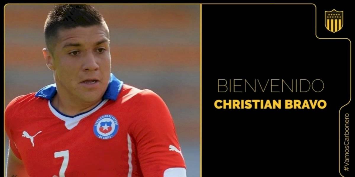 Christian Bravo se transformó en nuevo refuerzo de Peñarol y enfrentará a Colo Colo en la Copa Libertadores