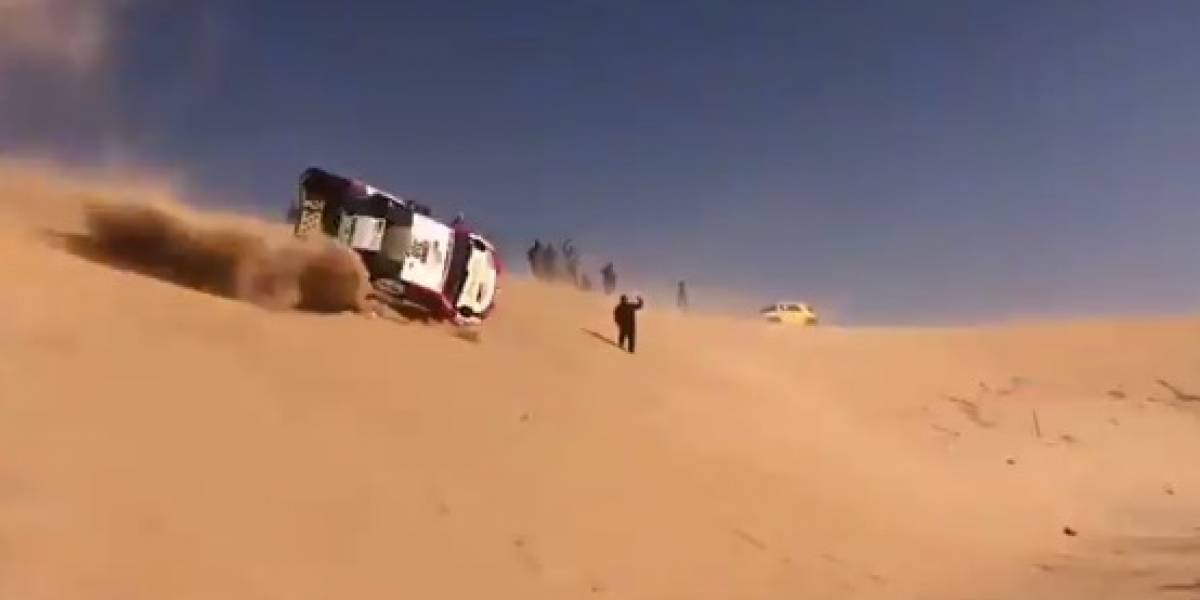 Igual siguió corriendo: El tremendo accidente que sufrió Fernando Alonso en el Rally Dakar 2020