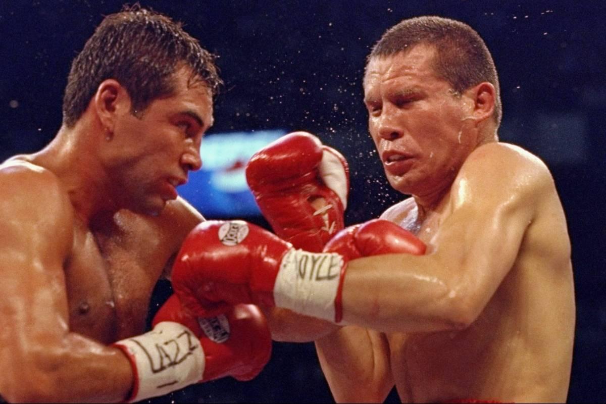 Image result for Julio César Chávez y Óscar de la Hoya, una vez más en el ring