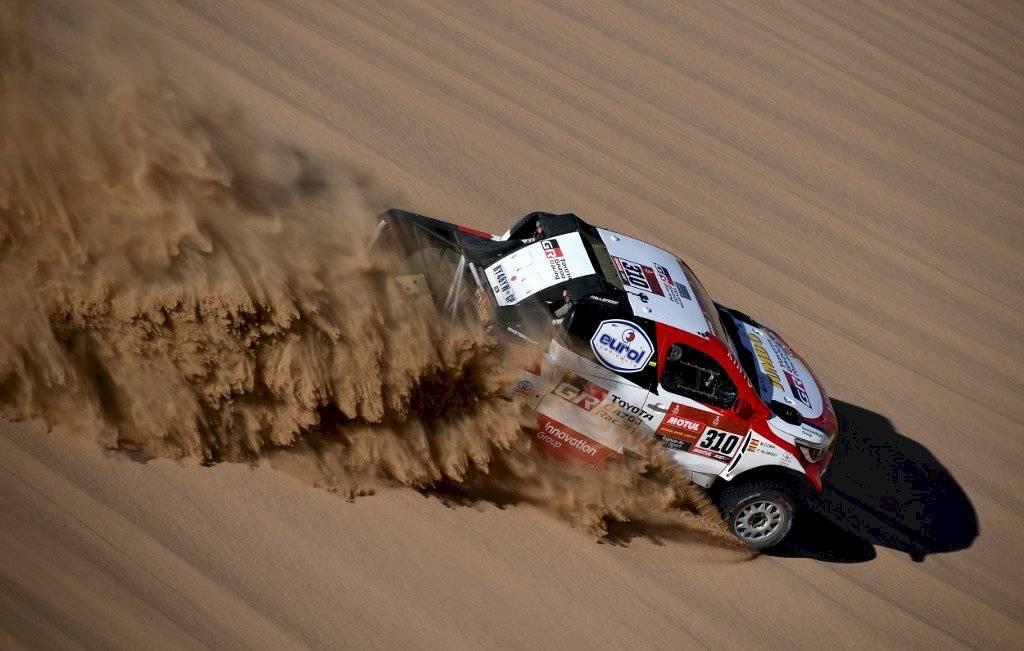 Foto AFP | Fernando Alonso y su accidente en el Rally Dakar 2020