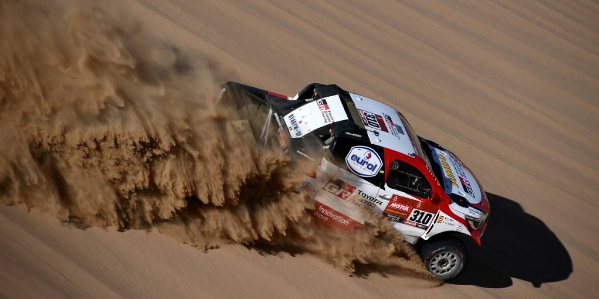 VIDEO. El piloto español Fernando Alonso tuvo un accidente en el Dakar 2020