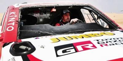 Fernando Alonso y su accidente en el Rally Dakar 2020