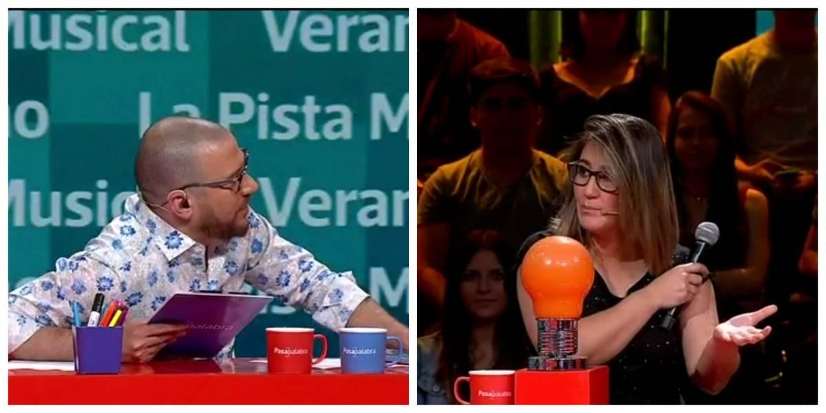 """""""Canta poh"""": Julián Elfenbein y Belén Mora protagonizaron incómodo momento en """"Pasapalabra"""""""