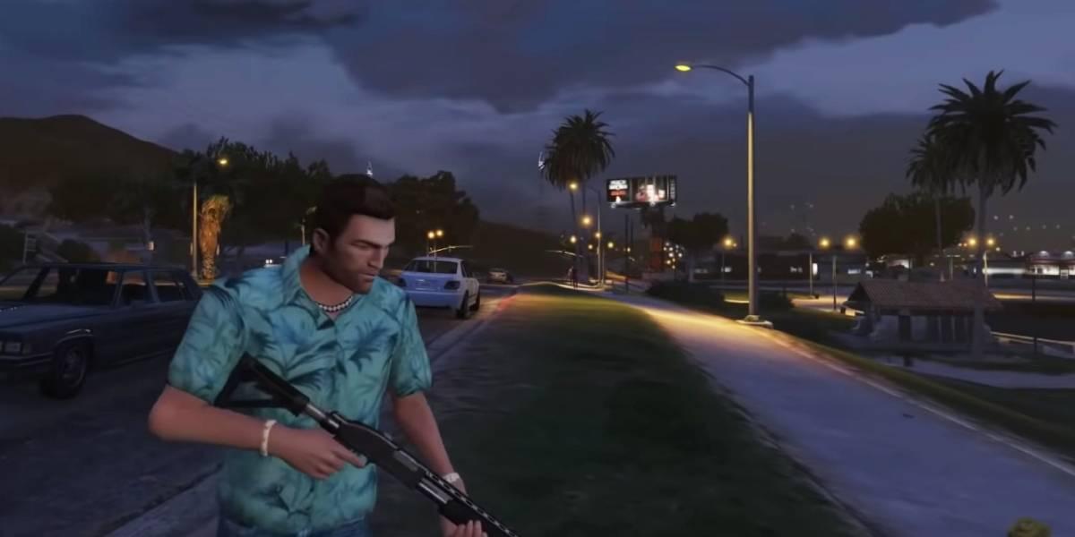 Grand Theft Auto V recibe un increíble mod de Vice City