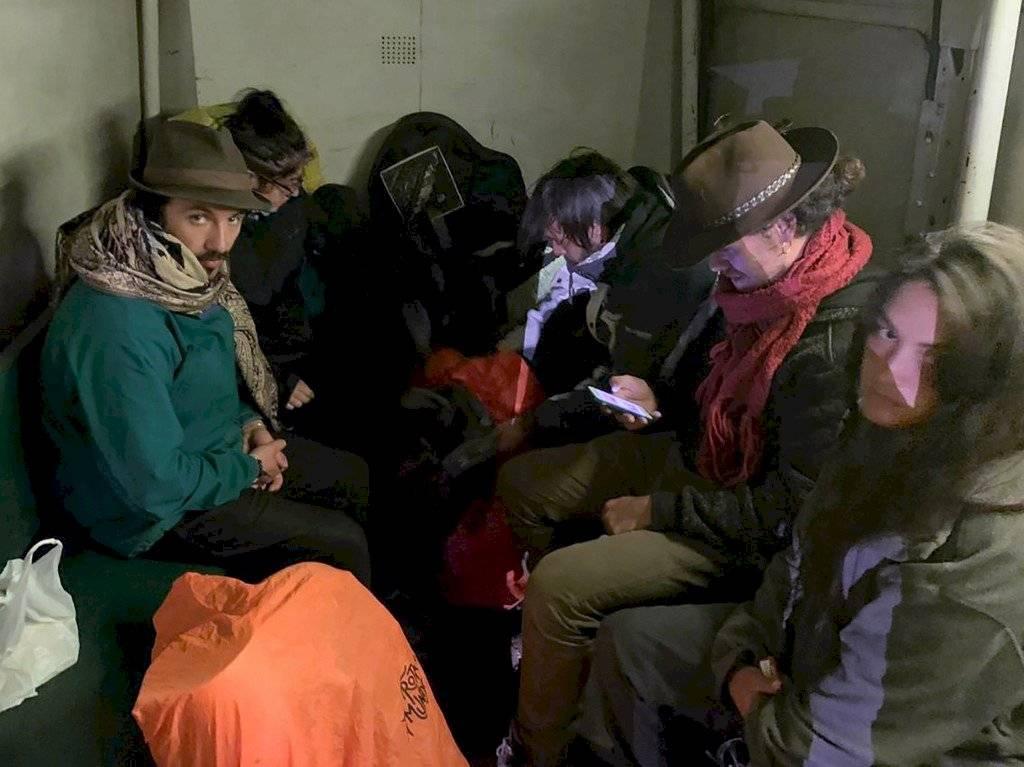 Turistas detenidos en Machu Picchu