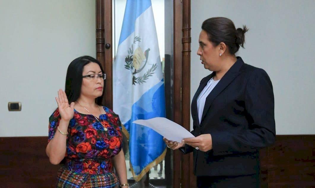 Jutamentación de Mirna Griselda González Navichoc, Secretaria Privada. Cortesía