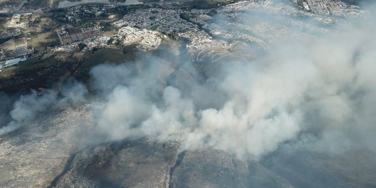 Pomasqui: Tubo de OCP no se vería afectado por incendio forestal en Casitagua