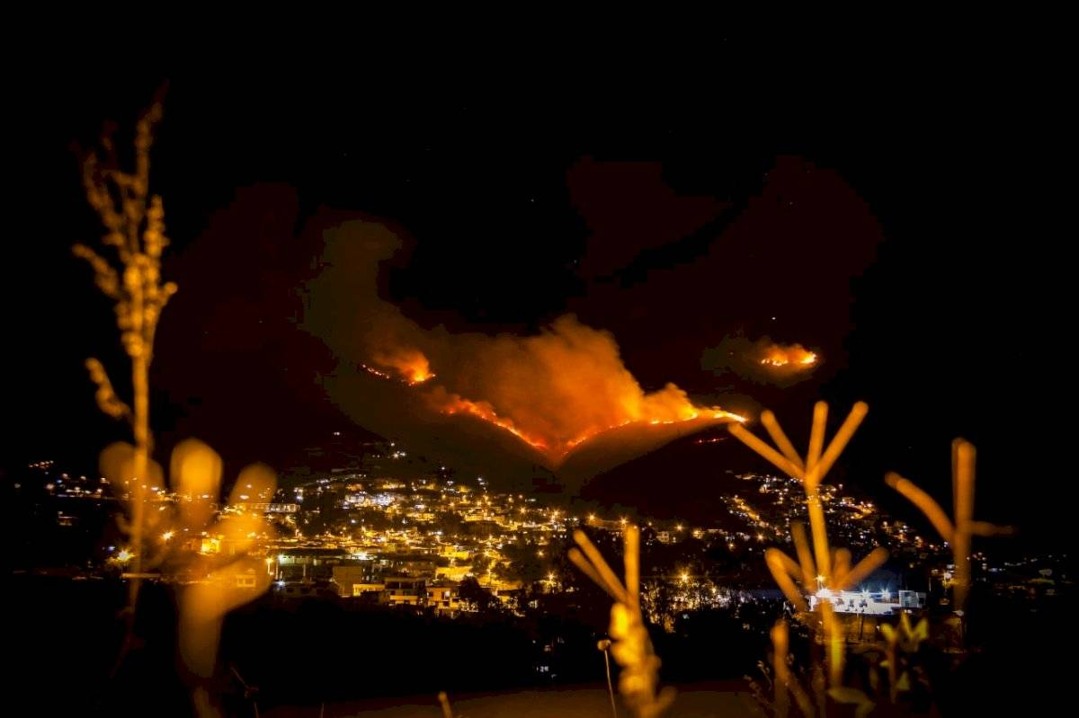 Incendio en cerro Casitagua