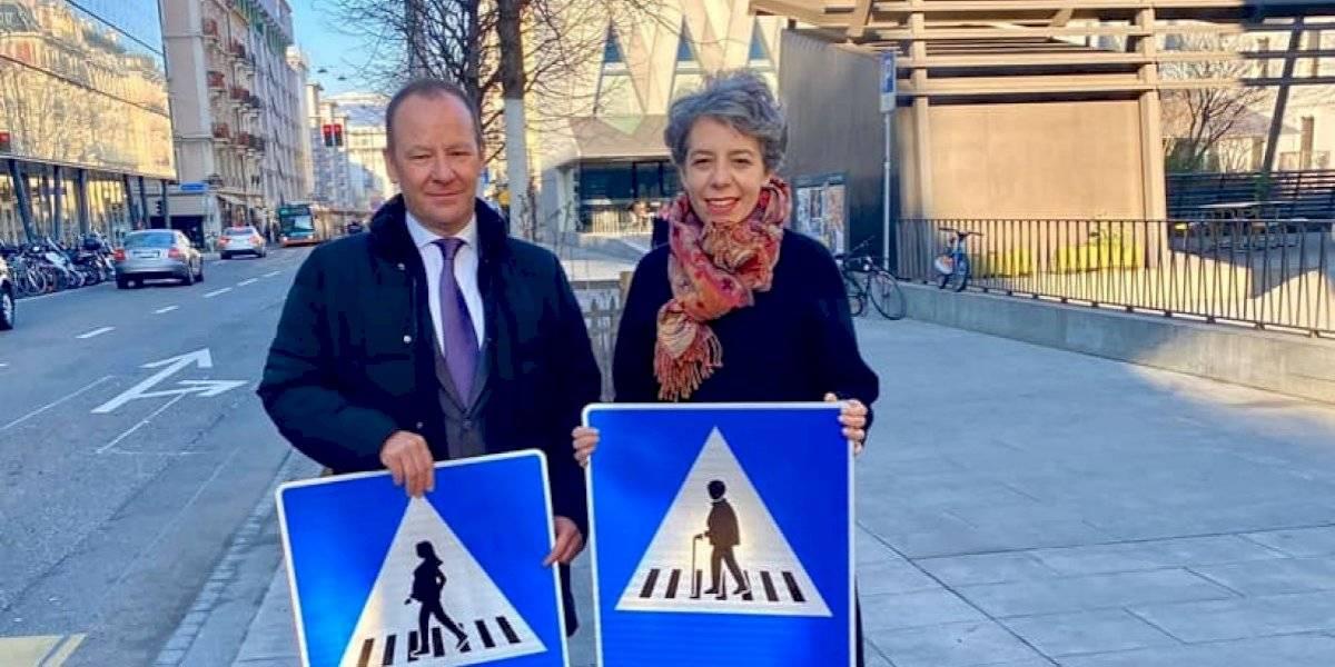 """Suiza estrena """"pasos de peatonas"""" en Ginebra por la equidad de género"""