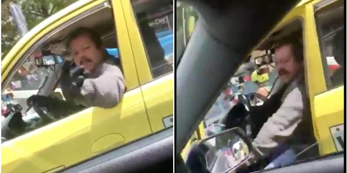(VIDEO) Conductor de taxi agrede a mujer en Bogotá y genera nueva polémica