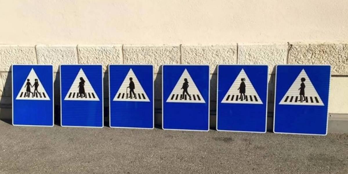 Suiza estrena pasos de peatonas en Ginebra por la equidad de género