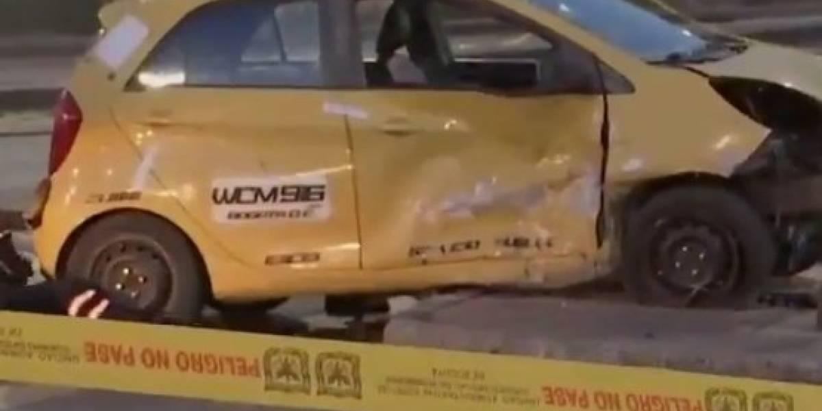 Las muchas infracciones del taxista que causó la muerte a un motociclista en Bogotá