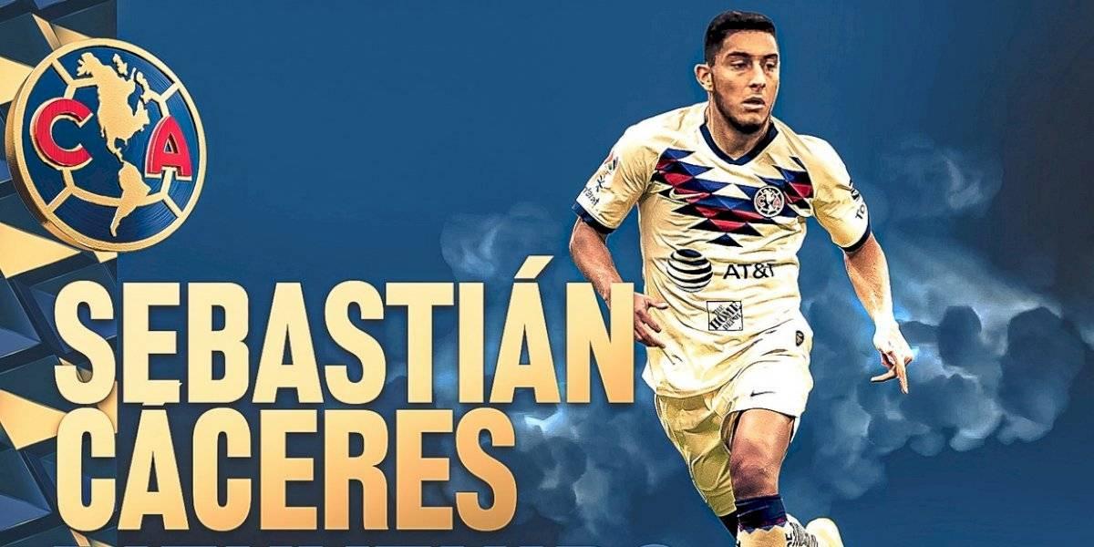 América anuncia el fichaje de Sebastián Cáceres