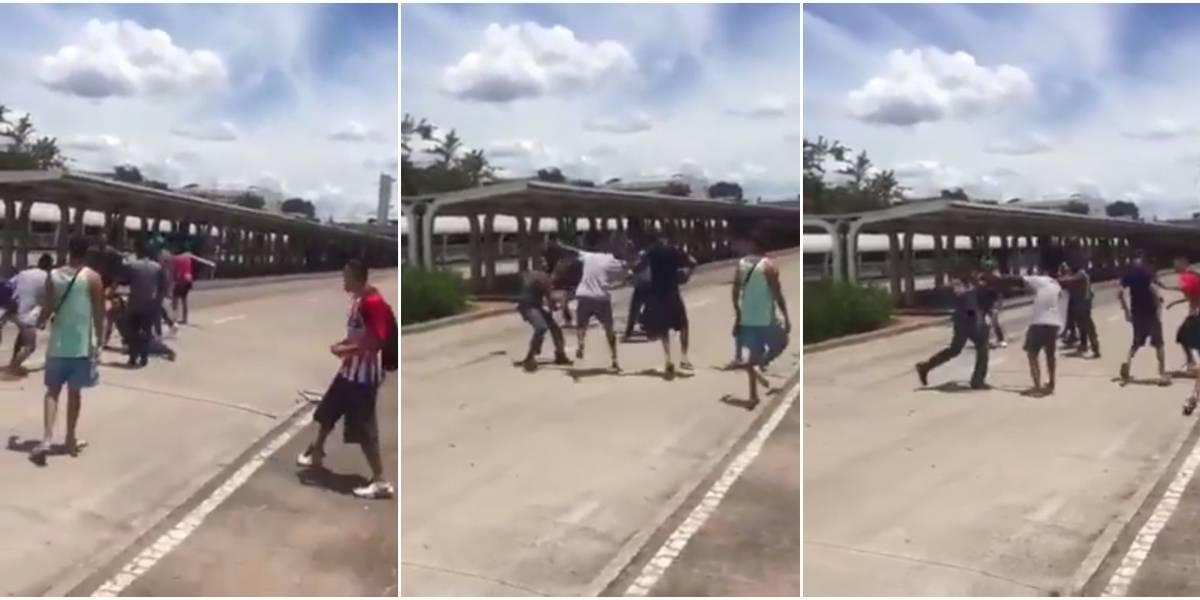 Ambulantes agridem agentes do Metrô no terminal Capão Redondo