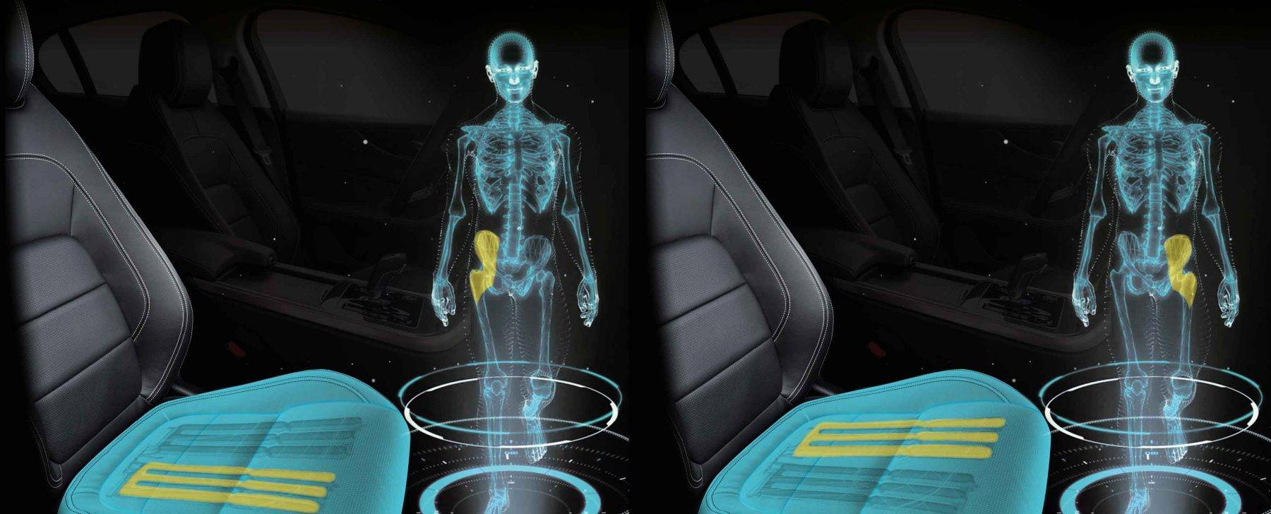 """Jaguar Land Rover muestra el """"asiento del futuro"""" que cambia de forma y estimula las piernas"""